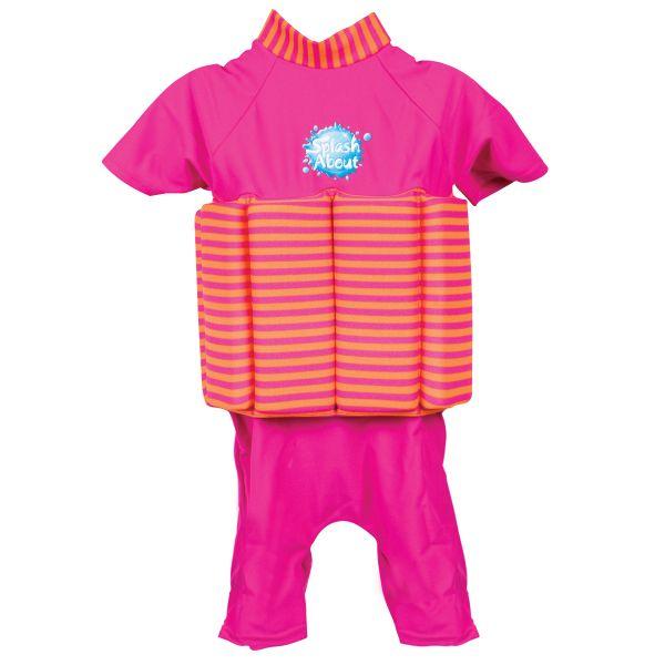 UV Sun Protection Float Suit Pink Mango Stripe