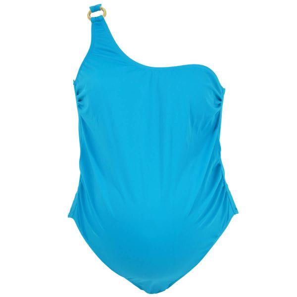 Maternity Swimwear Peacock Blue