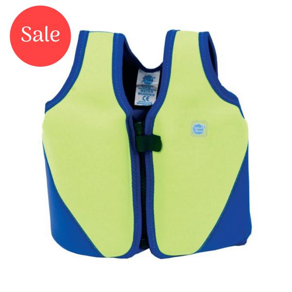 Learn To Swim Float Jacket Lime/Blue