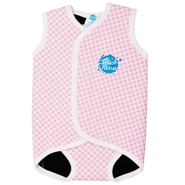 White Pink Gingham Baby Wrap