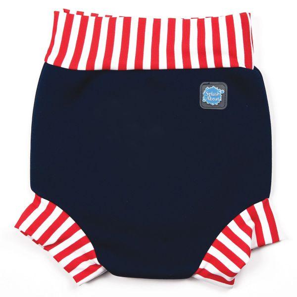 Happy Nappy™ Navy Red Stripe