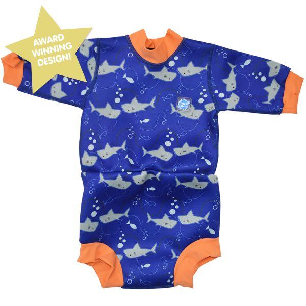 Happy Nappy Wetsuit Shark Orange Small