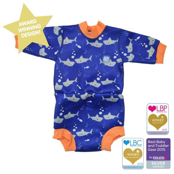 Happy Nappy Wetsuit Shark Orange