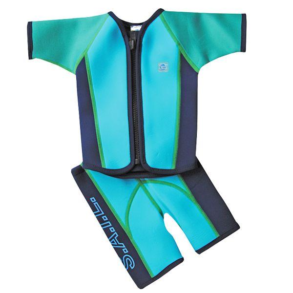 Wetsuit Jacket & Shorts Surf Turquoise