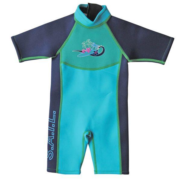 Shorty Wetsuit Surf Turquoise