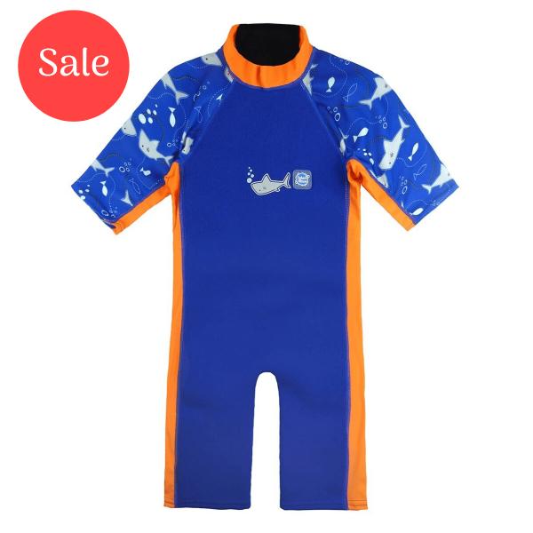 UV Sun & Sea Suit Shark Orange 1-2 Years