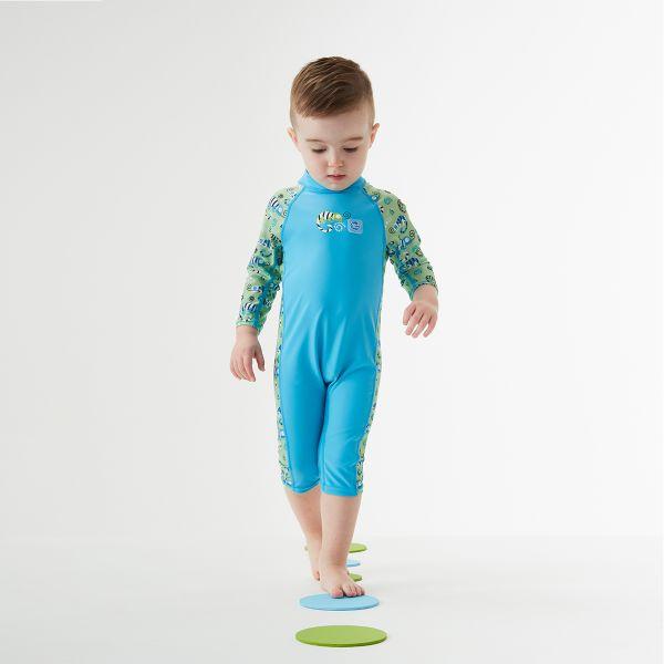 Toddler UV suit green gecko