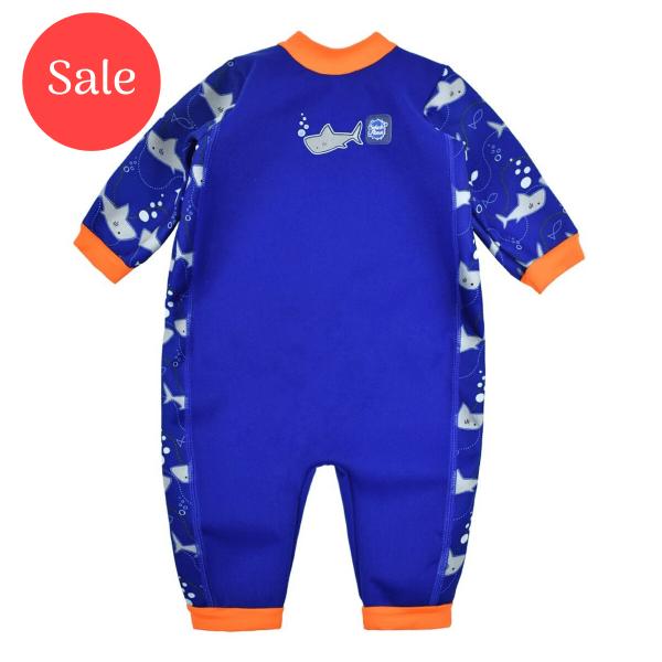 Warm In One™ Shark Orange Small 0-3 Months