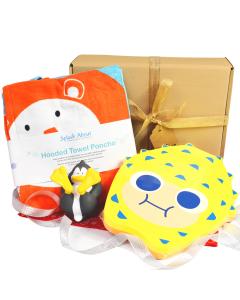 Noah's Ark Poncho, Pufferfish Float Board, Penguin Splash Pal Gift Bundle