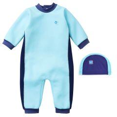 Blue Cobalt Warm In One & Swim Hat Bundle