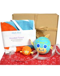 Hooded Towel Noah's Ark, Pufferfish Ball, Pufferfish Gift Bundle