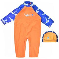 Shark Orange UV All In One and Swim Hat Bundle
