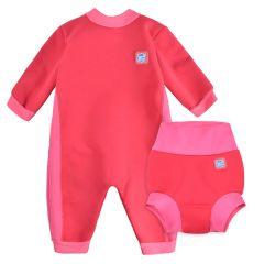 Pink Geranium Warm In One & Happy Nappy Bundle
