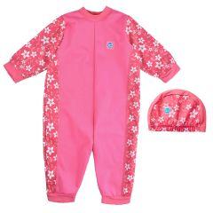 Pink Blossom Warm In One & Swim Hat