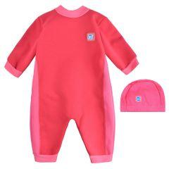 Pink Geranium Warm In One & Swim Hat Bundle