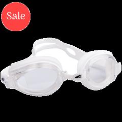 Pool Adult Piranha Goggles White/Clear