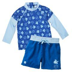 Turtle Mania Board Shorts and Long Sleeve Rash Top Bundle