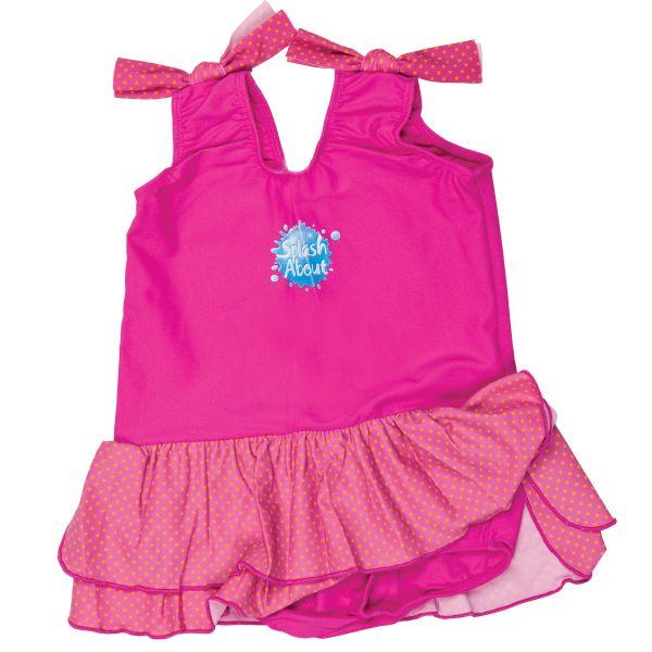 Swimming Costume with Skirt Pink & Mango