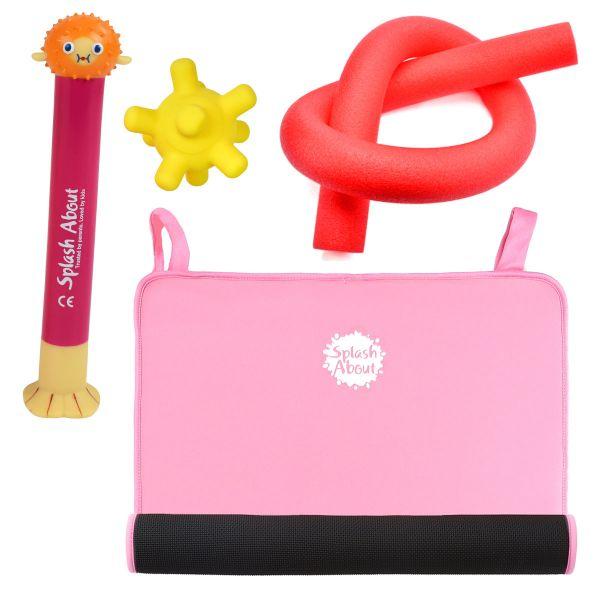Pufferfish Dive Toy, Splash Jack, Noodle & Pink Changing Mat Mini Bundle