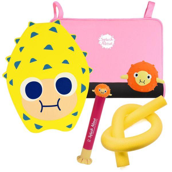 Pufferfish Dive Toy, Sensory Toy, Noodle, Pufferfish Float & Pink Changing Mat Mini Bundle