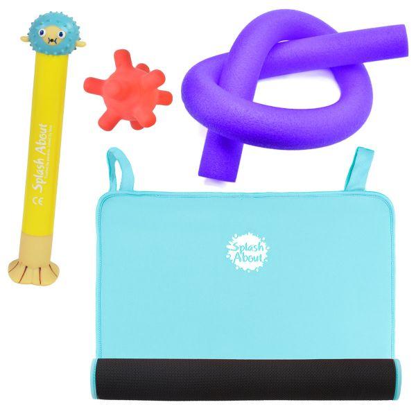 Pufferfish Dive Toy, Splash Jack, Noodle & Blue Changing Mat