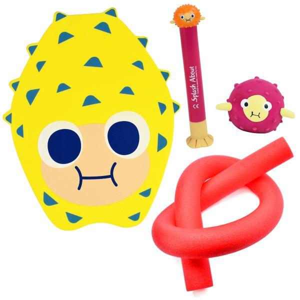 Pufferfish Dive Toy, Pufferfish Toy, Float Board & Noodle Mini Bundle