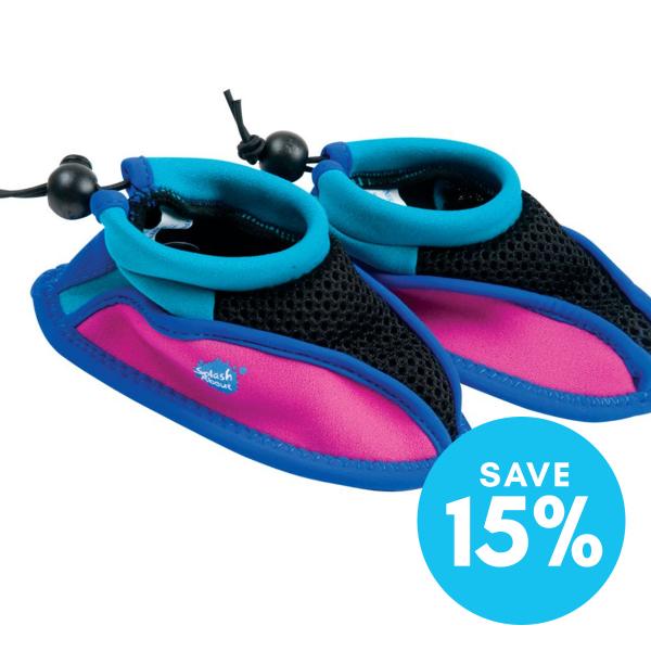 Splash Shoe Pink with Turquoise