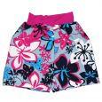 Splash Board Shorts Child Hibiscus Pink