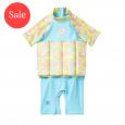 UV Floatsuit with Zip Garden Birds