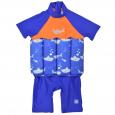UV Floatsuit with Zip Shark Orange