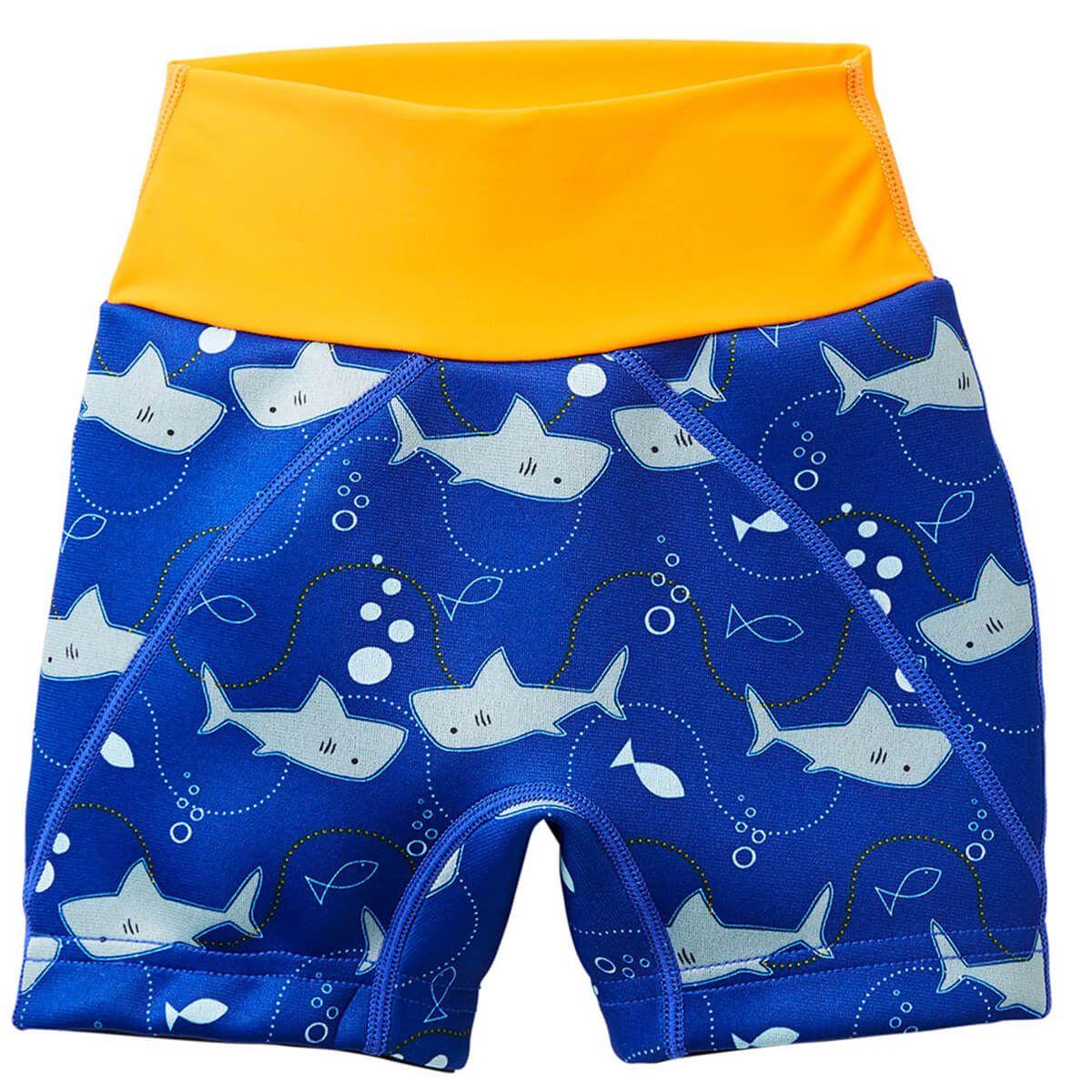 f2f9f54a44 Splash Jammers Shark Orange |Toddler Swim Nappy Shorts