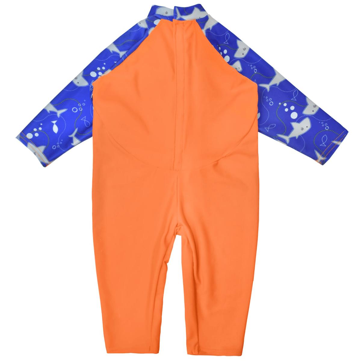 93f789832aaa5 UV All In One Shark Orange | Baby Sun Protection Sunsuit