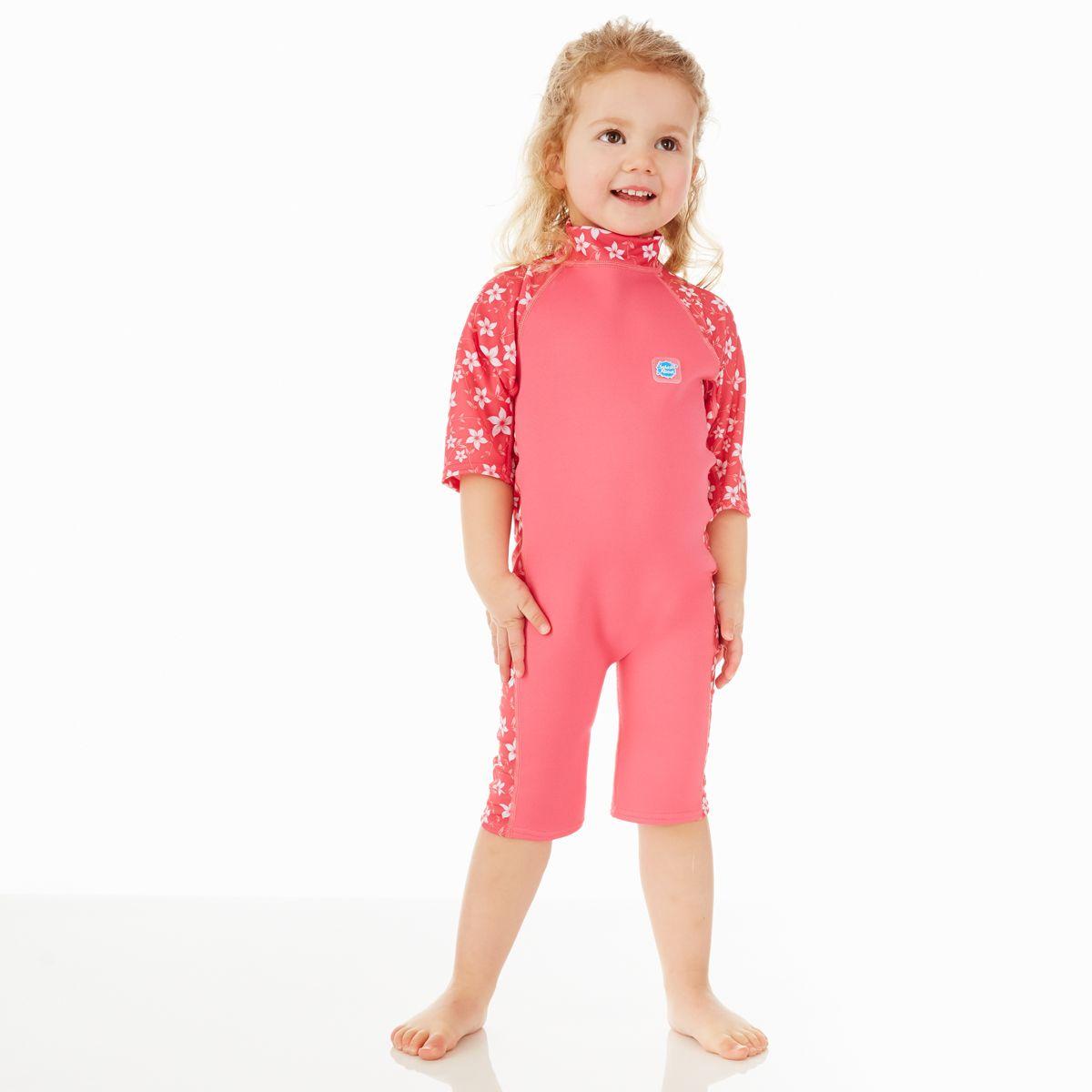 7a75ac9f03 UV Sun & Sea Wetsuit Pink Blossom  Kids Beachwear Wetsuit