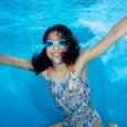 Girls Swimming Costume Jungle Paradise