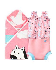Nina's Ark Hooded Towel & Happy Nappy Costume Bundle