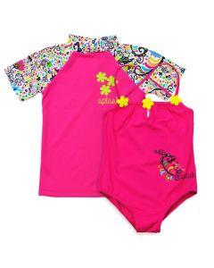 Birdy Swimming Costume and Short Sleeve Rash Top Bundle