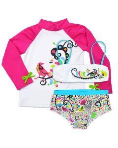 De Birdy Bikini and Long Sleeve Rash Top Bundle