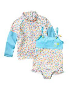 Flora Bimbi Swimming Costume & Long Sleeve Rash Top Bundle