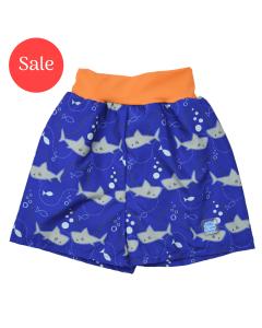 Happy Nappy™ Board Shorts Shark Orange