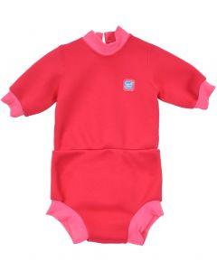 Happy Nappy Wetsuit Pink Geranium Medium 3-8 Months