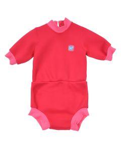 Happy Nappy Wetsuit Pink Geranium Large 6-14 Months
