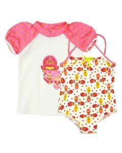 Kayla La Swimming Costume and Short Sleeve Rash Top Bundle