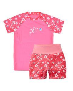 Pink Blossom Splash Jammers & UV Rash Top Bundle