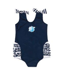 Swimming Costume Navy Stripe