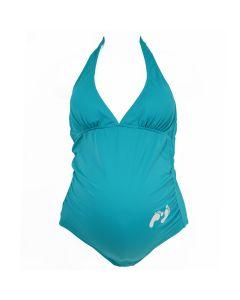 Little Feet Maternity Swimming Costume Turquoise