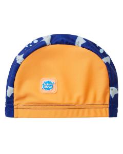 Swim Hat Shark Orange