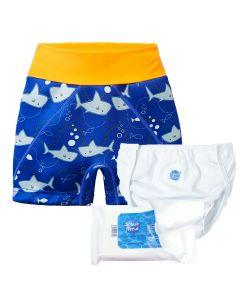 Shark Orange Splash Jammers, Nappy Wrap and Liners Bundle