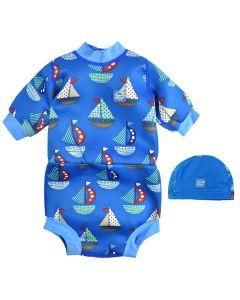 Happy Nappy Wetsuit and Swim Hat Set Sail Bundle