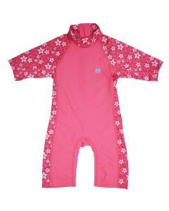 Toddler 3/4 length UV Suit Pink Blossom