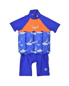 UV Floatsuit with Zip Shark Orange 4-6 Years